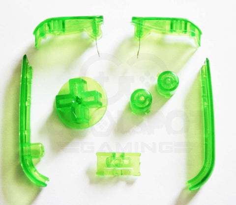 Game Boy Advance (GBA) Replacement Buttons - Clear Green