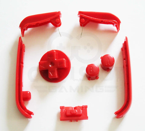 Game Boy Advance (GBA) Replacement Buttons - Red