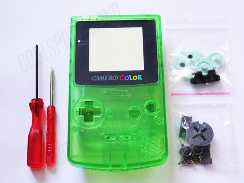 Game Boy Colour Replacement Housing Shell Kit - Apple Green Clear