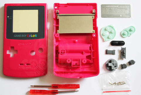 Game Boy Colour Replacement Housing Shell Kit - Berry Red