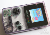 Game Boy Colour LCD IPS Backlight Console - Adjustable Brightness - Clear Purple & Black Buttons