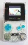 Game Boy Colour LCD Backlight Console - Adjustable Brightness - Clear & Blue