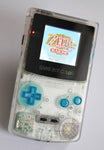 Game Boy Colour LCD IPS Backlight Console - Adjustable Brightness - Clear & Blue
