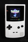Game Boy Colour LCD IPS Backlight Console - Adjustable Brightness - White & Black Buttons