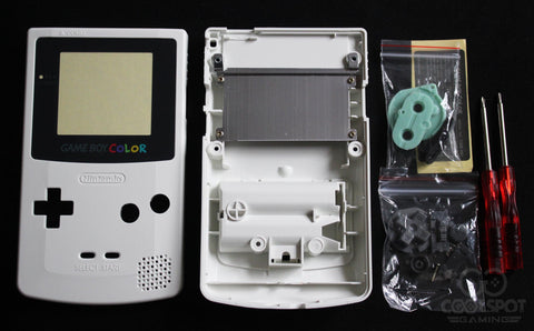 Game Boy Colour Replacement Housing Shell Kit - Cream/Pearl White