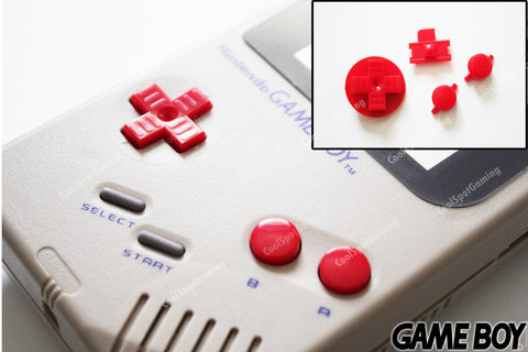 Game Boy Original DMG Replacement Buttons - Red