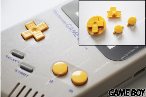 Game Boy Original DMG Replacement Buttons - Yellow