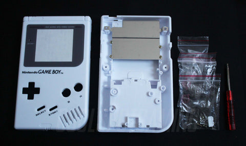 Original DMG Game Boy Replacement Housing Shell Kit - White