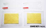 2 x Game Boy Micro Screen Protectors (+ Free Dust Cloths)