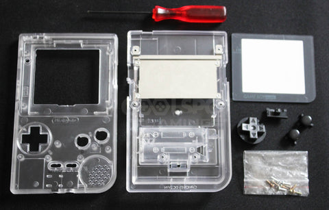 Game Boy Pocket Replacement Housing Shell Kit - Clear Transparent