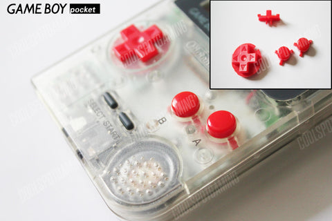 Game Boy Pocket Replacement Buttons - Red