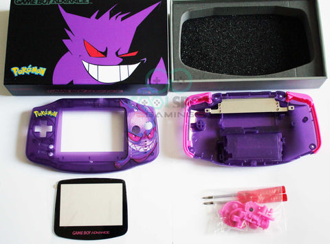 Game Boy Advance (GBA) Complete Housing Shell Kit & Presentation Box *IPS Ready* - Gengar