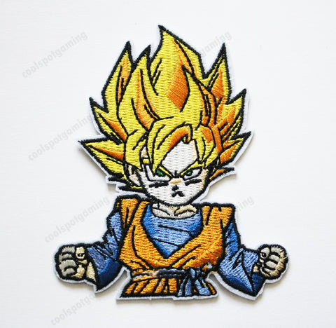 Super Saiyan Goku Dragon Ball Z Embroidered Patch