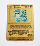 Blastoise Gold Metal Pokemon Card