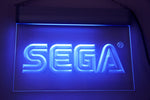 "Sega Logo Neon Light Sign Engraved (Size 12"" x 9"")"