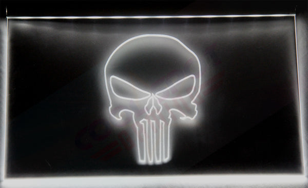 "Punisher Neon Light Sign Engraved (Size 12"" x 9"")"