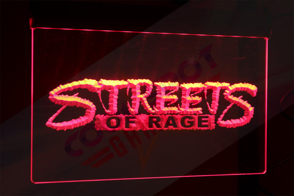 "Streets of Rage Neon Light Sign 3D Engraved (Size 12"" x 9""/ 30cm x 22cm)"