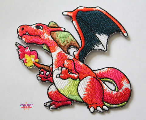 Charizard Pokemon Embroidery Patch (7.5cm x 8cm)
