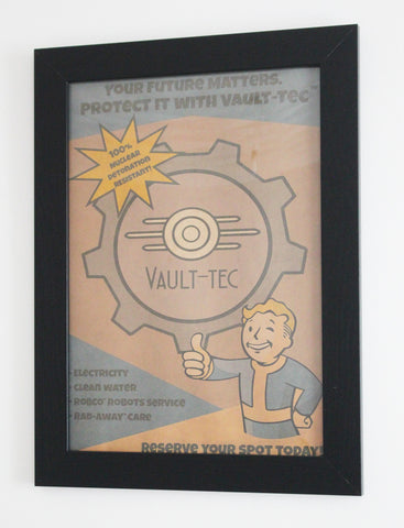 Vintage Style A3 Poster - Vault-Tec - Your Future Matters