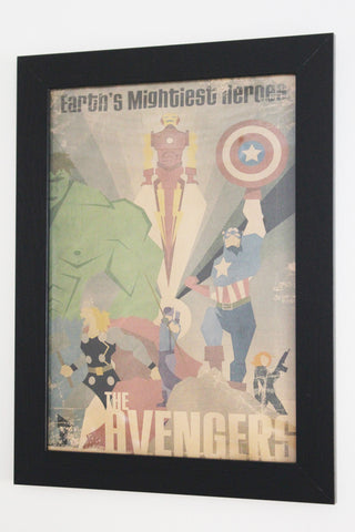 Vintage Style A3 Poster - Avengers: Earth's Mightiest Heroes