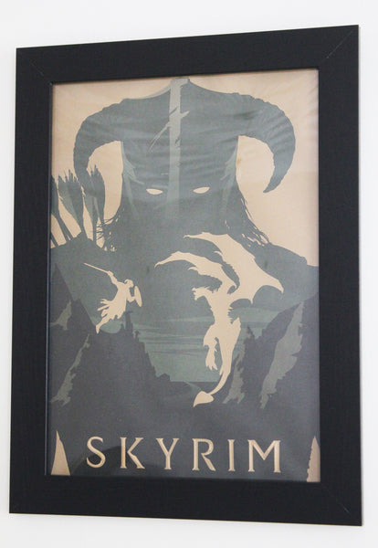 Vintage Style A3 Poster - Skyrim