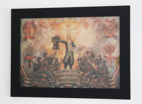 Vintage Style A3 Poster - Bioshock Infinite: For God and Country