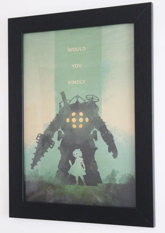 Vintage Style A3 Poster - Bioshock: Would You Kindly
