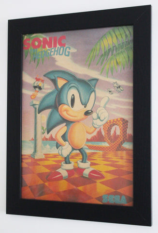Vintage Style A3 Poster - Sonic the Hedgehog 1