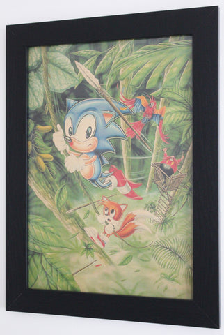 Vintage Style A3 Poster - Sonic the Hedgehog 2: Jungle
