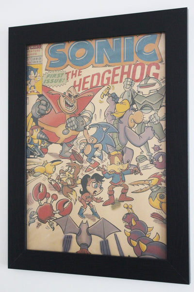 Vintage Style A3 Poster - Sonic the Hedgehog Magazine Issue 1