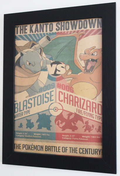 Vintage Style A3 Poster - Pokemon: The Kanto Showdown