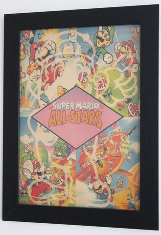 Vintage Style A3 Poster - Super Mario All Stars
