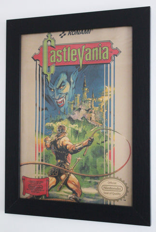 Vintage Style A3 Poster - Castlevania NES Cover