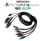 Universal Multi RGB AV Component Cable for PS1/PS2/PS3/Wii/Wii U/Xbox 360