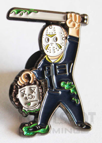 Friday the 13th Vault Boy Crossover Pin Badge