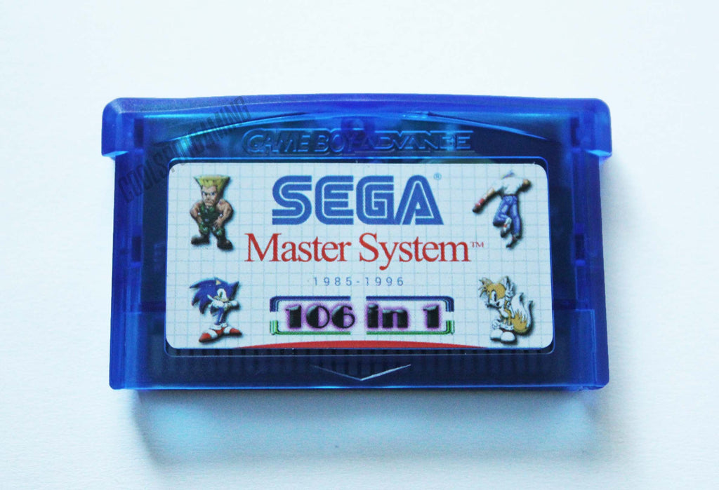 106 Master System Games In 1 Gba Multi Cart Cool Spot Gaming