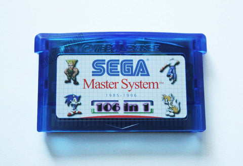 106 Master System Games in 1 - GBA Multi Cart