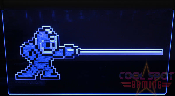 "Mega Man Neon Light Sign 3D Engraved (Size 12"" x 9""/ 30cm x 22cm)"