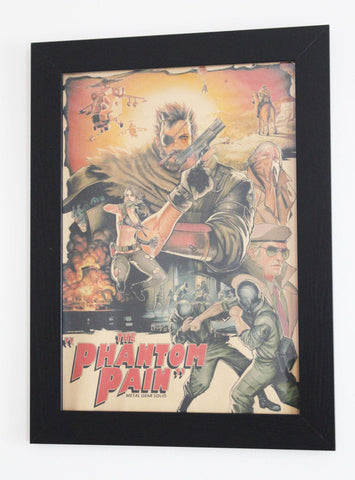 Vintage Style A3 Poster - Metal Gear Solid: Phantom Pain Movie