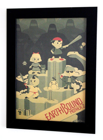 Vintage Style A3 Poster - Earthbound (Mother 2)