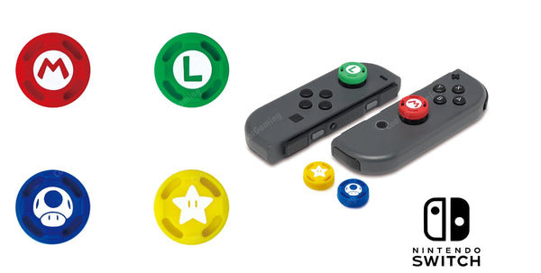 Official Nintendo Switch Controller Joycon Super Mario Caps - set of 4 - Hori