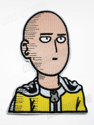 One Punch Man - Saitama - Embroidered Iron/Sew-on Patch