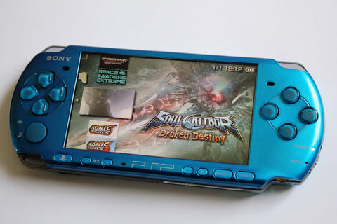 PSP 3000 Vibrant Blue 64GB Console
