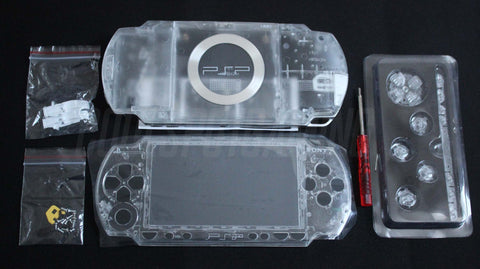 PSP 1000 Series Clear Transparent Crystal Full Housing Kit