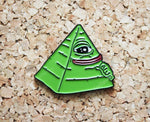 Pepe the Frog - Illuminati - Enamel Pin Badge