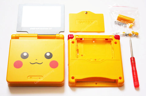 Game Boy Advance SP (GBA SP) Replacement Housing Shell Kit - Pikachu