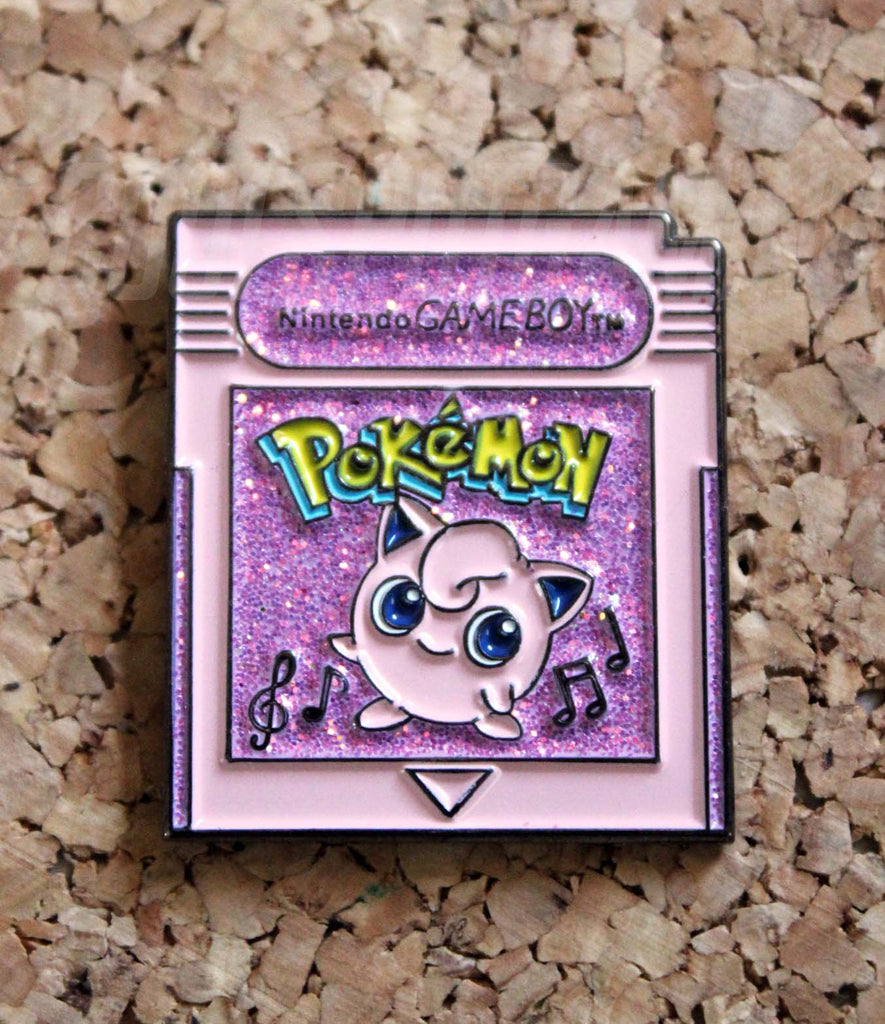 Pokemon Pink Jigglypuff Game Boy Cartridge Pin Badge