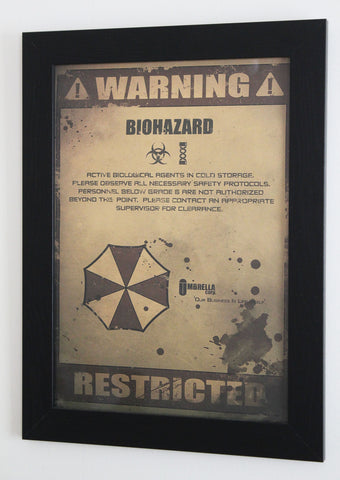 Vintage Style A3 Poster - Resident Evil - Biohazard