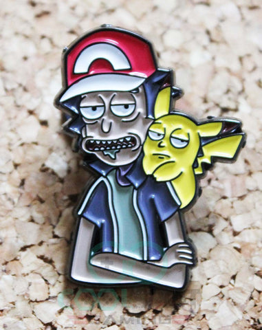 Rick and Morty Pokemon Crossover Pin Badge