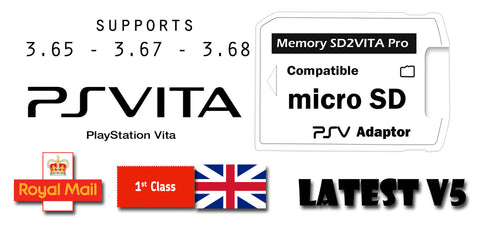 SD2VITA Pro Micro SD Adapter Latest Ver 5.0 For PS Vita